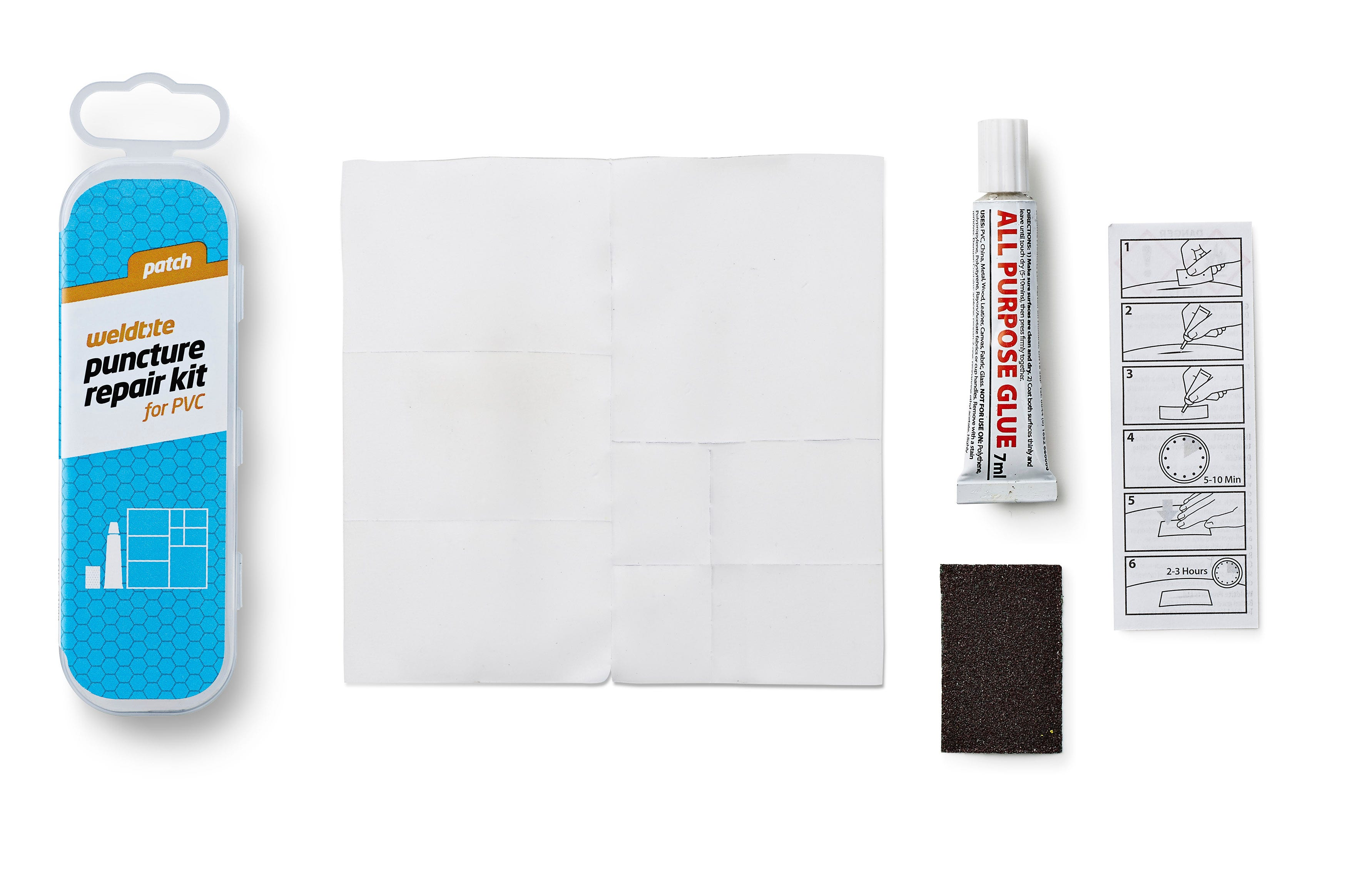 Weldtite Patch Puncture Repair Kit for PVC